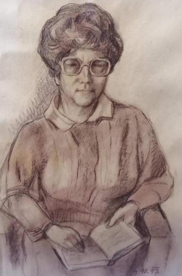 Josef Drha: Portrét manželky