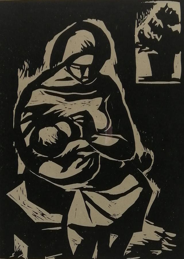 Josef Drha: Kojící matka
