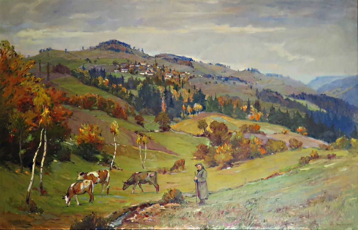 Augustin Mervart: Pasení krav v Beskydech
