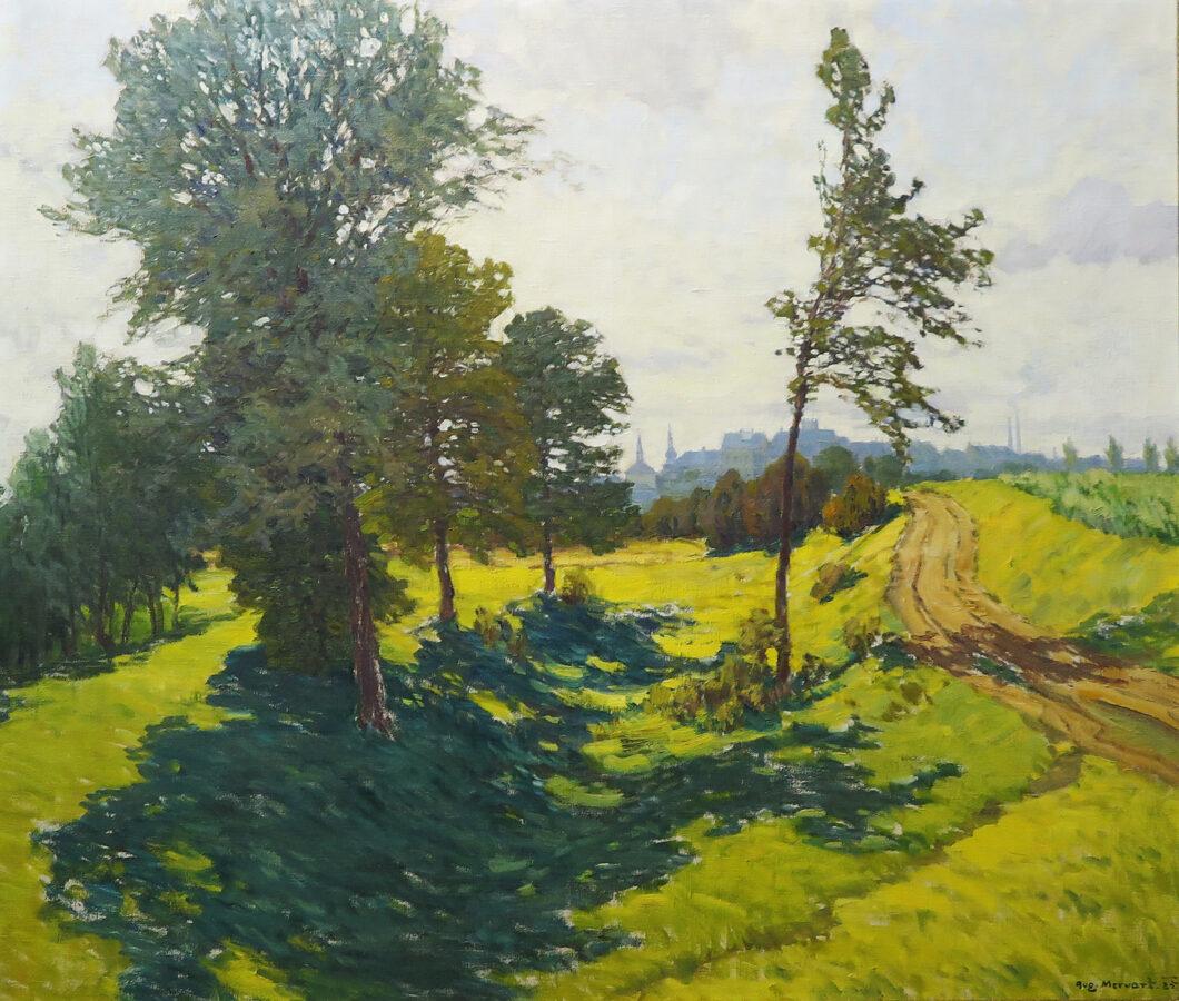 Augustin Mervart: Pohled na Starý Přerov
