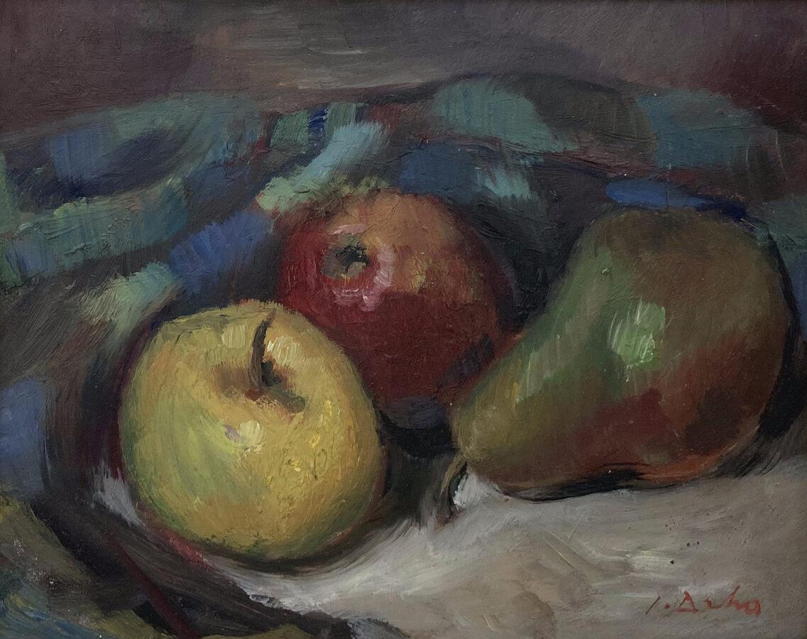 Josef Drha: Zátiší s jablky
