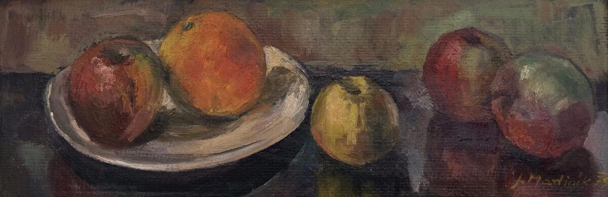 Jaromír Martiník: Zátiší s ovocem